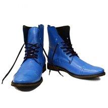 Modello Mare - 42 EU - Handmade Colorful Italian Leather Unique High Boots La... - $149.00