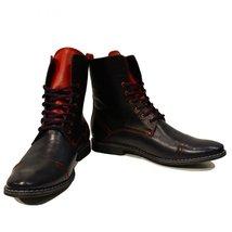 Modello Spada - 40 EU - Handmade Colorful Italian Leather Unique High Boots L... - $149.00