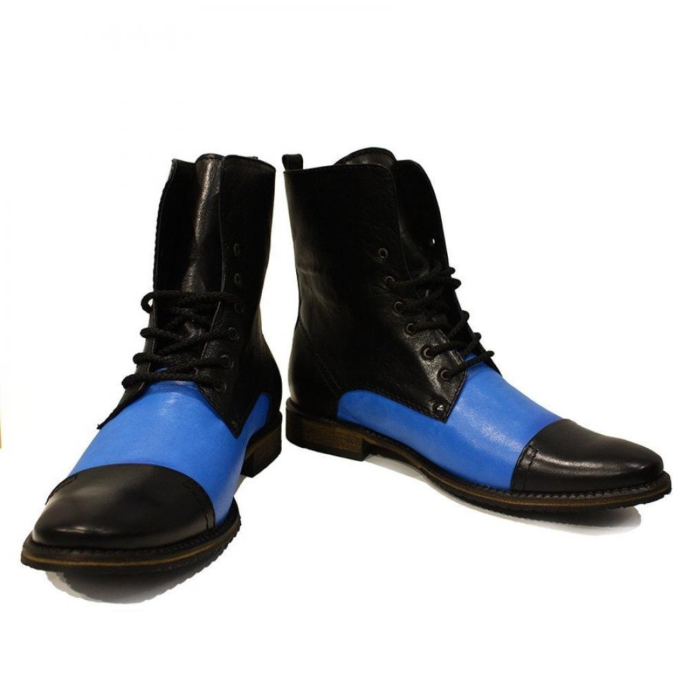 Modello Sila - 40 EU - Handmade Colorful Italian Leather Unique High Boots La... - $149.00