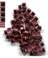 SQUARES Rhinestuds 3mm  RED Hot Fix Iron on 144Pc  1 gross - $4.85