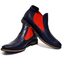 Modello Bra - 44 EU - Handmade Colorful Italian Leather Unique Ankle Boots La... - $149.00