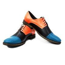 Modello Pretorio - 42 EU - Handmade Colorful Italian Leather Oxfords Unique L... - $149.00