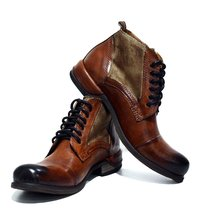 Modello Oreto - 44 EU - Handmade Colorful Italian Leather Unique High Boots L... - $149.00