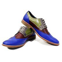 Modello Bagheria - 43 EU - Handmade Colorful Italian Leather Oxfords Unique L... - $202.49 CAD