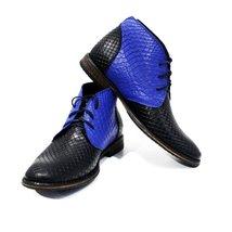 Modello Avola - 45 EU - Handmade Colorful Italian Leather Unique High Boots L... - $149.00