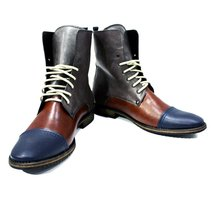 Modello Palazzo - 44 EU - Handmade Colorful Italian Leather Unique High Boots... - $149.00