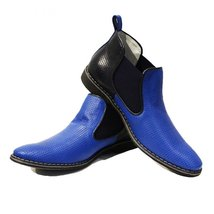 Modello Giacobbe - 41 EU - Handmade Colorful Italian Leather Unique Ankle Boo... - $149.00