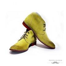Modello Pisa - 44 EU - Handmade Colorful Italian Leather Unique High Boots La... - $149.00