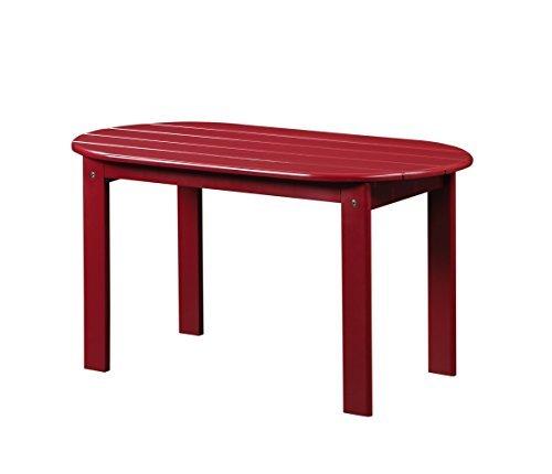 Adirondack Coffee Table Set: Linon Jayde Adirondack Coffee Table, Red