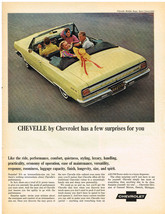 Vintage 1965 Magazine Ad Chevrolet Chevelle Has A Few Surprises For You - $5.93