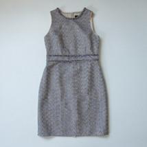 NWT J.Crew Sheath in Gold Blue Metallic Twinkle Tweed Sleeveless Dress 10 - $62.00