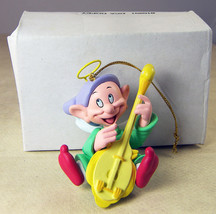 Dopey DISNEY Christmas Ornament Dwarf from SNOW WHITE with Wings & Lute + Box - $12.35