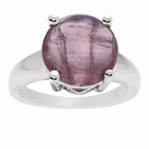 Pink Tourmaline Classic Looking Women Silver Ring Sz 7 Solid Sterling SHRI0661 - $19.76