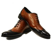 Modello Gaetano - 42 EU - Handmade Colorful Italian Leather Oxfords Unique La... - $149.00