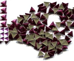 TRIANGLE  Smooth Rhinestuds 6mm PINK Hot Fix 1 gross - $4.99