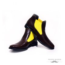 Modello Rawena - 43 EU - Handmade Colorful Italian Leather Unique Ankle Boots... - $149.00