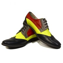Modello Caramella - 40 EU - Handmade Colorful Italian Leather Oxfords Unique ... - $149.00