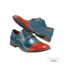 Modello Cremona - 42 EU - Handmade Colorful Italian Leather Oxfords Unique La... - $149.00
