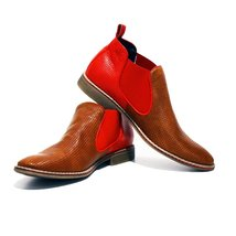 Modello Macerata - 41 EU - Handmade Colorful Italian Leather Unique Ankle Boo... - $149.00