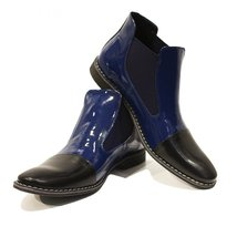 Modello Zaffiro - 41 EU - Handmade Colorful Italian Leather Unique Ankle... - $149.00