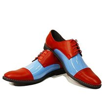 Modello Paolo - 40 EU - Handmade Colorful Italian Leather Unique Men's S... - $149.00