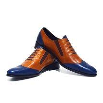 Modello Massimo - 41 EU - Handmade Colorful Italian Leather Oxfords Unique La... - $149.00
