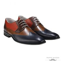Modello Valentia - 44 EU - Handmade Colorful Italian Leather Oxfords Unique L... - $149.00