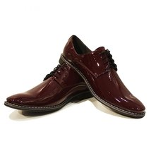 Modello Lucento - 42 EU - Handmade Colorful Italian Leather Oxfords Unique La... - $149.00