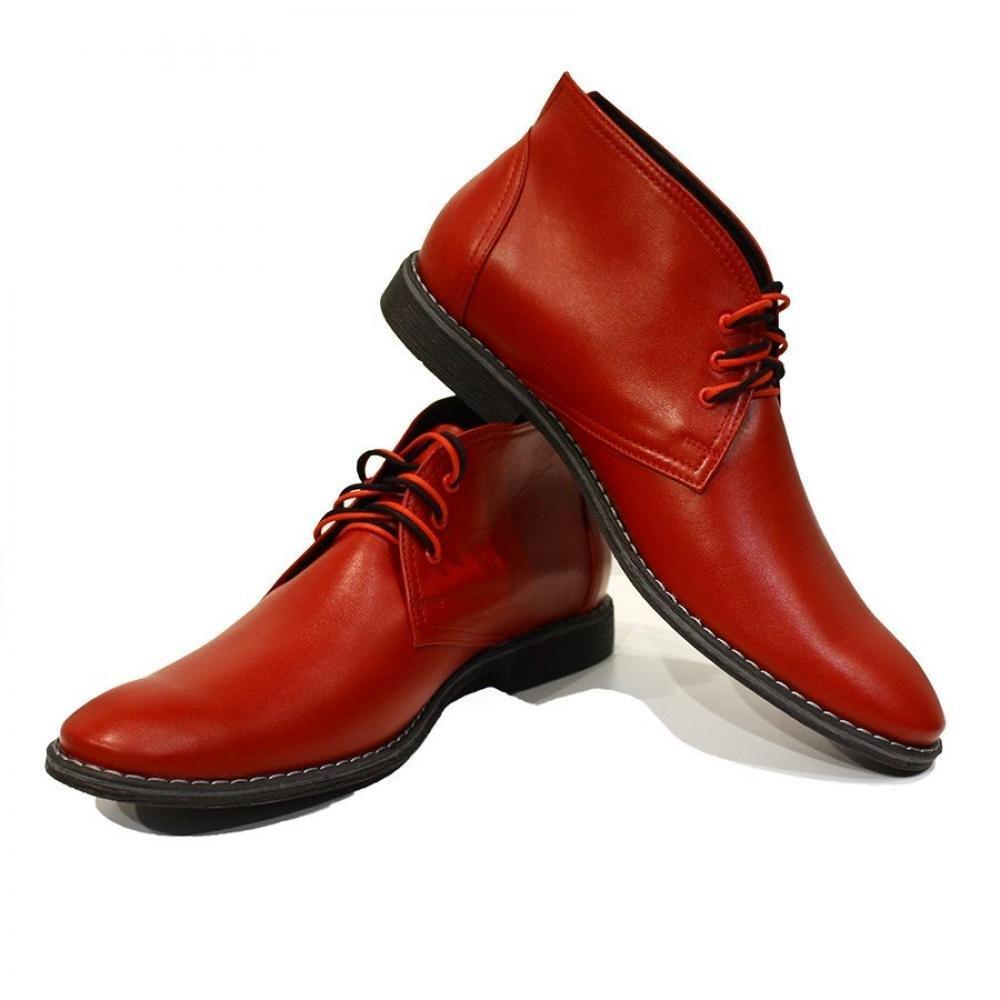 Modello Cleto - 40 EU - Handmade Colorful Italian Leather Unique High Boots L... - $149.00