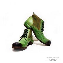 Modello Pescara - 40 EU - Handmade Colorful Italian Leather Unique High Boots... - $149.00
