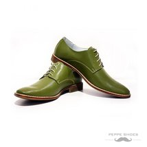 Modello Pontedera - 44 EU - Handmade Colorful Italian Leather Oxfords Unique ... - $149.00