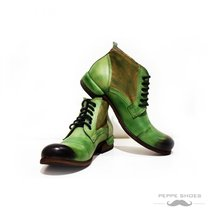 Modello Pescara - 45 EU - Handmade Colorful Italian Leather Unique High Boots... - $149.00