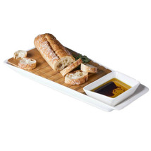 Picnic Time Marimba Bamboo Cutting Bread with Porcelain Base and Dip Dish - €25,60 EUR