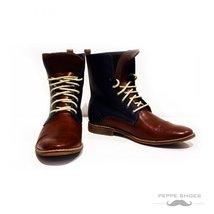 Modello Fiorentina - 43 EU - Handmade Colorful Italian Leather Unique High Bo... - $149.00