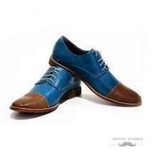Modello Marsala - 41 EU - Handmade Colorful Italian Leather Oxfords Unique La... - $149.00