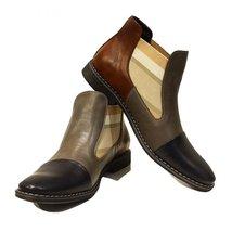 Modello Nonno - 41 EU - Handmade Colorful Italian Leather Unique Ankle Boots ... - $149.00