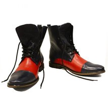Modello Stiletto - 44 EU - Handmade Colorful Italian Leather Unique High Boot... - $149.00