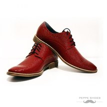 Modello Milano - 45 EU - Handmade Colorful Italian Leather Oxfords Unique Lac... - $149.00
