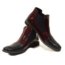 Modello Biscotto - 42 EU - Handmade Colorful Italian Leather Unique Ankle Boo... - $149.00