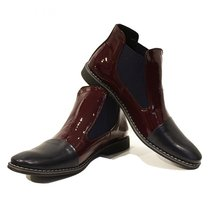 Modello Biscotto - 43 EU - Handmade Colorful Italian Leather Unique Ankle Boo... - $149.00