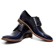 Modello Ponte - 40 EU - Handmade Colorful Italian Leather Oxfords Unique... - $149.00