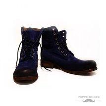 Modello Gambani - 45 EU - Handmade Colorful Italian Leather Unique High Boots... - $149.00