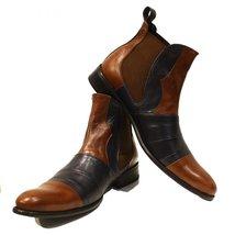 Modello Ritorto - 45 EU - Handmade Colorful Italian Leather Unique Ankle Boot... - $149.00