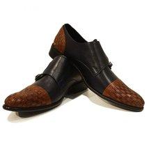 Modello Marrone - 40 EU - Handmade Colorful Italian Leather Oxfords Unique La... - $149.00