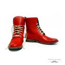 Modello Vomero - 40 EU - Handmade Colorful Italian Leather Unique High Boots ... - $149.00