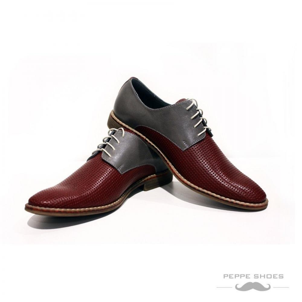 Primary image for Modello Bologna - 41 EU - Handmade Colorful Italian Leather Oxfords Unique La...