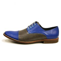Modello Alessio - 45 EU - Handmade Colorful Italian Leather Oxfords Unique La... - $149.00