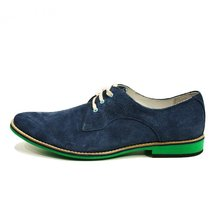 Modello Amerigo - 40 EU - Handmade Colorful Italian Leather Oxfords Unique La... - $149.00