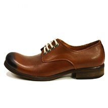 Modello Andrea - 44 EU - Handmade Colorful Italian Leather Oxfords Unique Lac... - $149.00