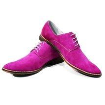 Pink Elegant Men's Shoes - 42 EU - Handmade Colorful Italian Leather Oxfords ... - $149.00